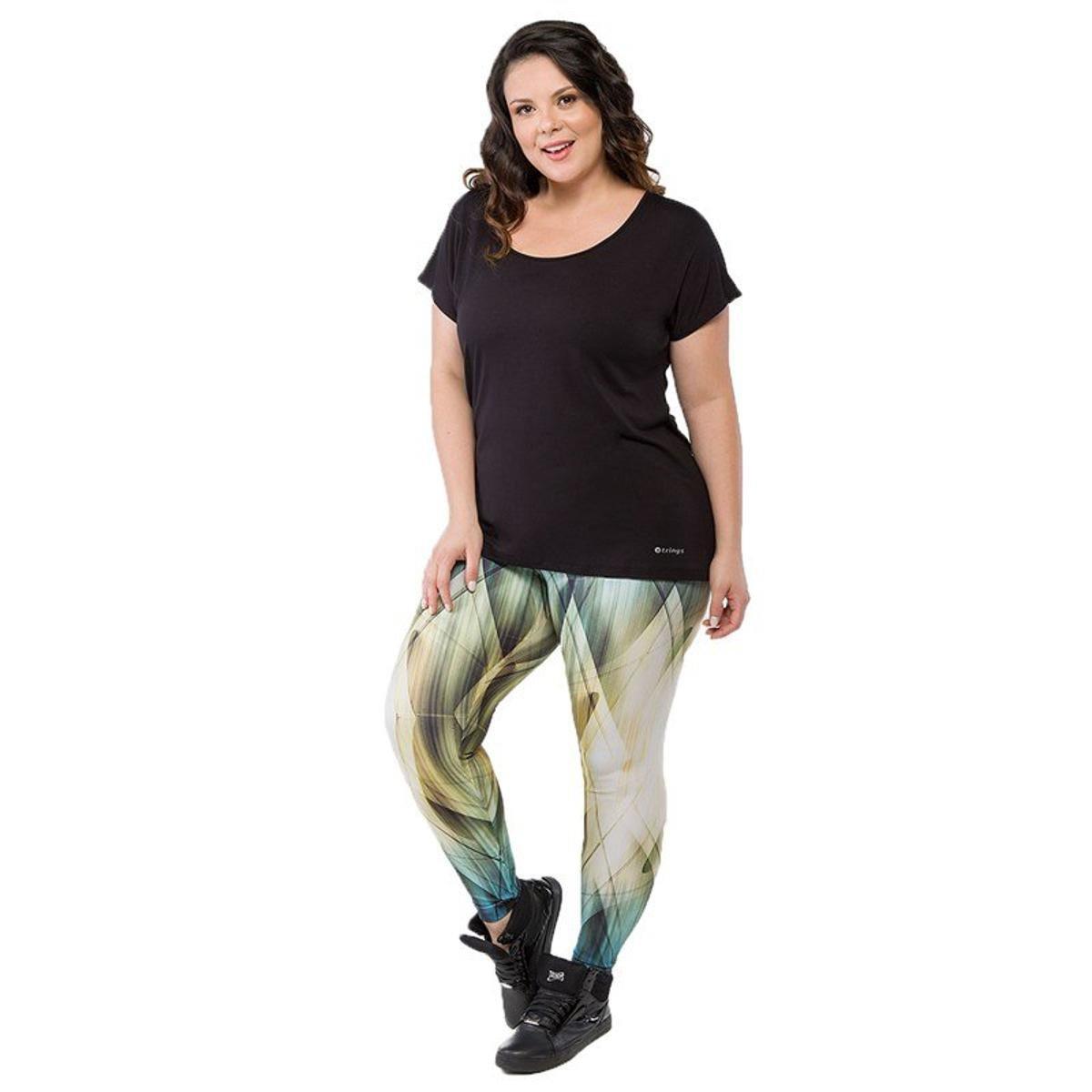 Size Calça nbsp;Trinys Candace Legging Plus Calça Size Plus Candace Verde Legging wqO7SH