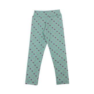 Calça Legging em Cotton Estampado