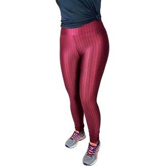 Calça Legging Feminina em Poliamida 3D Cos Alto