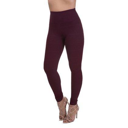 Calça Legging Feminina Miss Blessed Premium Bandagem Marsala