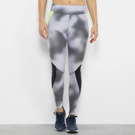 Calça Legging Fila Halftone Feminina - Branco+Preto