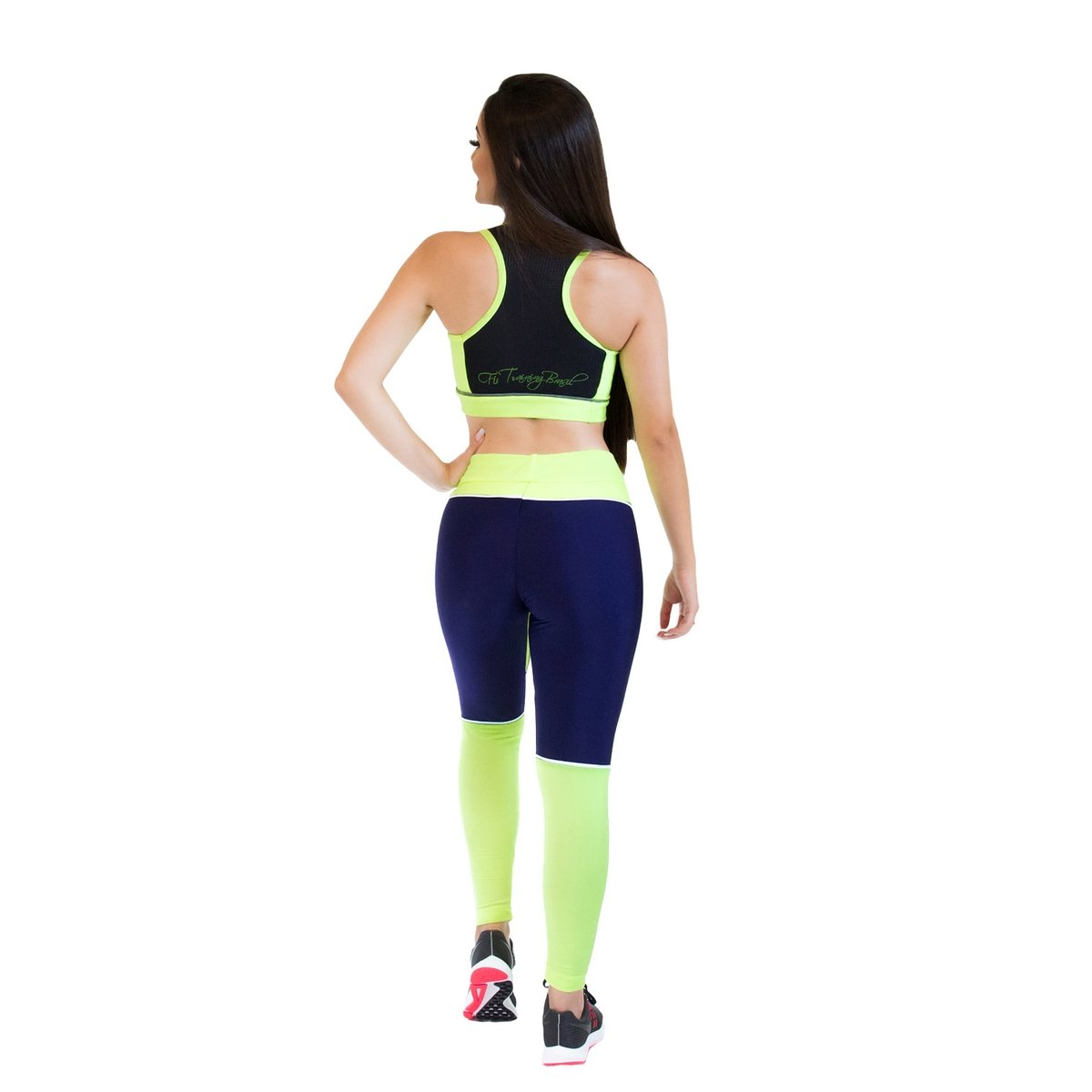 Verde Brasil Calça Training e Fit Girl Azul Power Feminina Legging g4qp0O