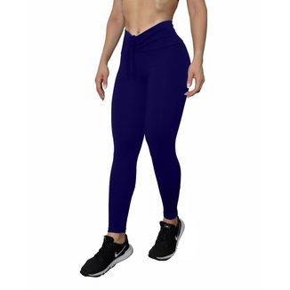Calça legging Fitness empina e modela bumbum lisa  - Cinza - M