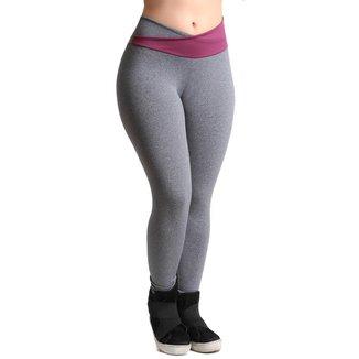 Calça Legging Fitness Galvic Detalhe Cós Cruzado