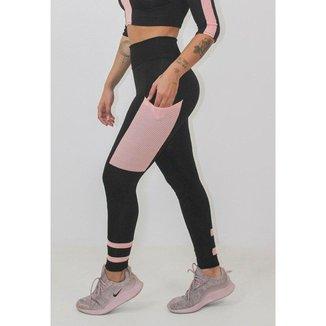 Calça Legging Fitness GR Esporte e Rosê Feminino