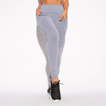 Calca Legging Fitness Poliamida Bolso Feminina