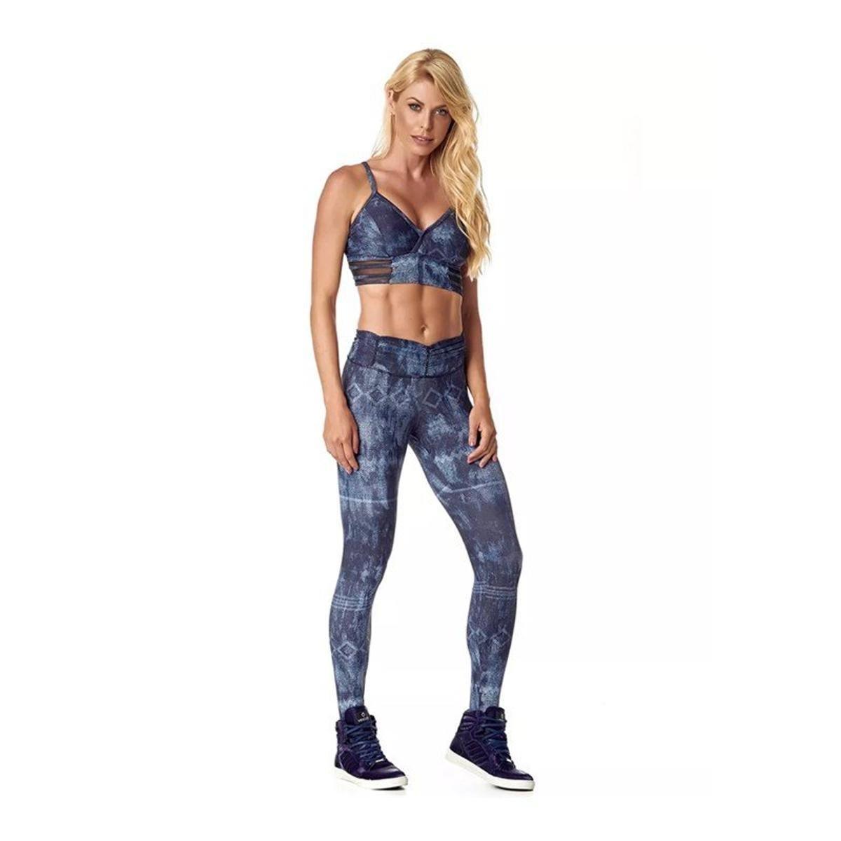 Fuso Azul e 11 Marinho Legging Frufru Vestem Cós Calça 5wqf1cYw