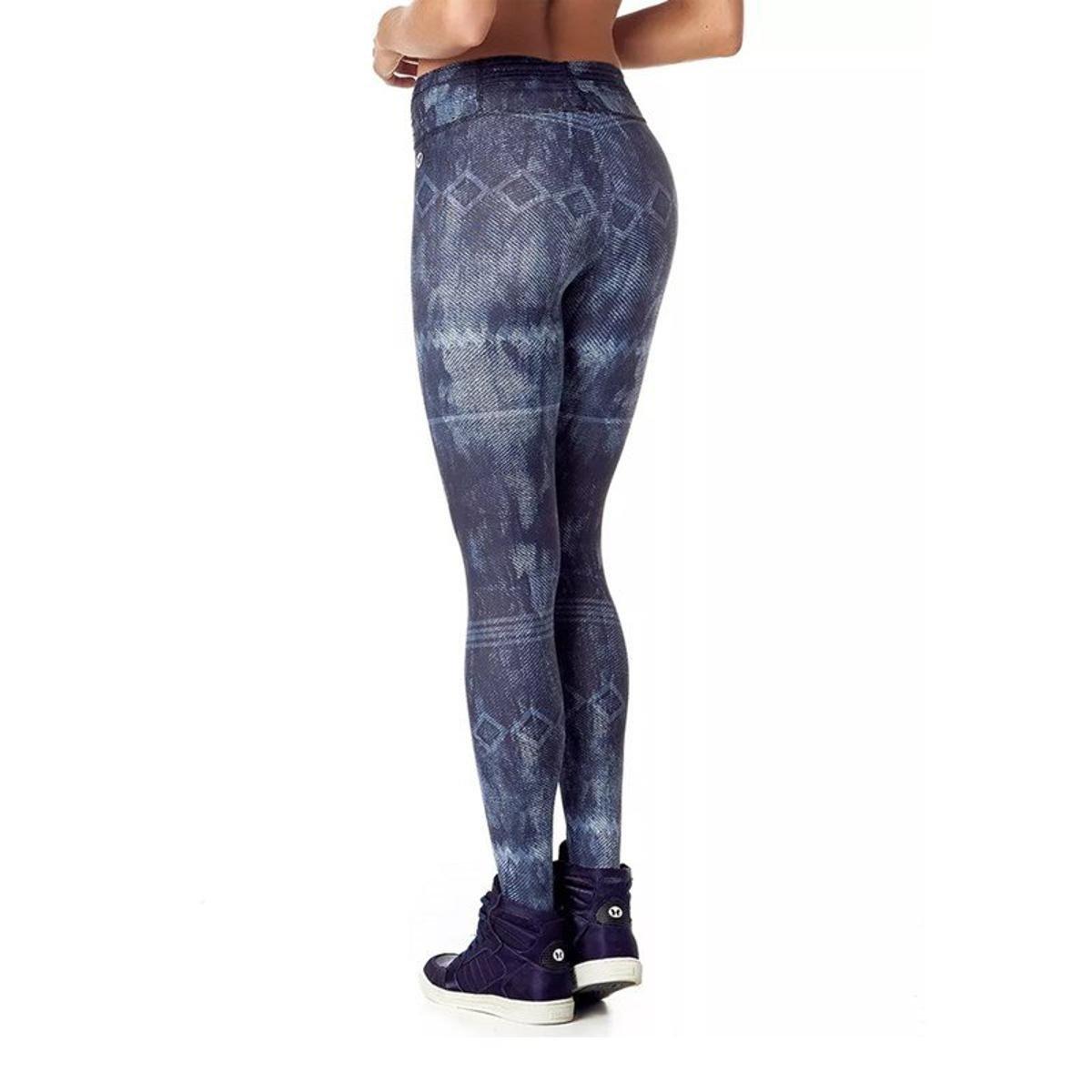 Fuso Azul Legging 11 Frufru Vestem Cós Calça e Marinho 7qvwx5q