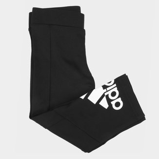 Calça Legging Infantil Adidas Big Logo 3/4 Feminina