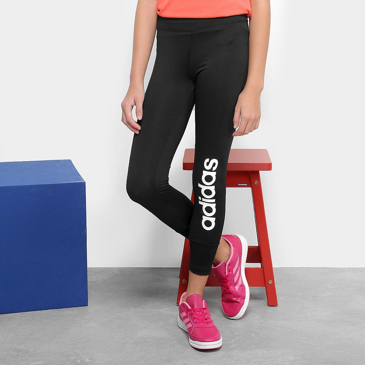 Calça Legging Infantil Adidas Yg Gu Lin Tight - Preto - Compre Agora ... f3f4387ff88