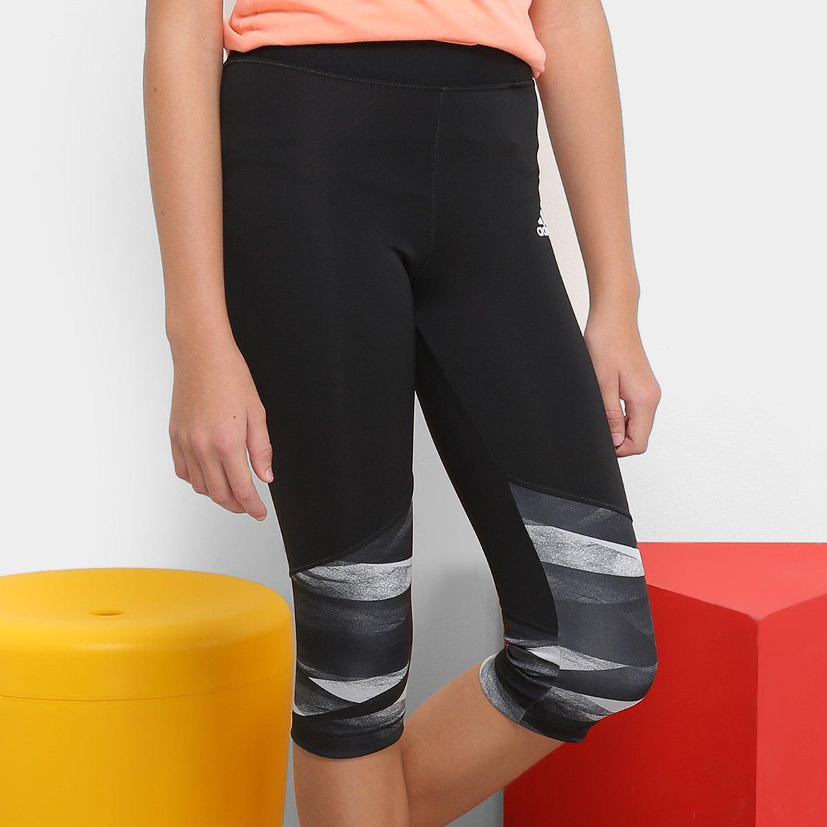 Calça Legging Infantil Adidas Yg Tr Wrap 34TI Feminina - Preto e ... a595ecf8a9a