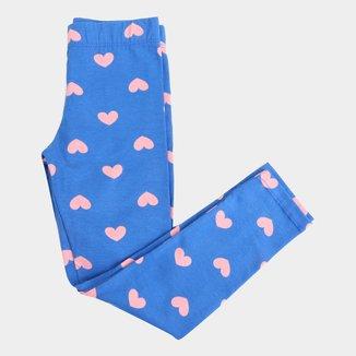 Calça Legging Infantil Malwee Cotton Estampada Feminina