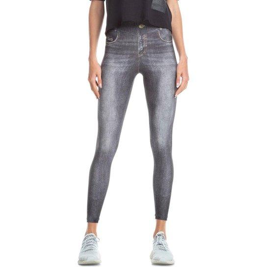 Calça Legging Jeans Attitude Live! Feminina - Cinza