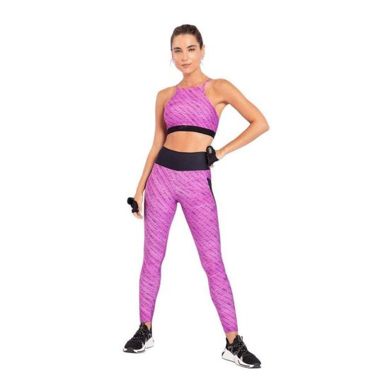 Calça Legging Live! Lines Pocket Feminina - Pink