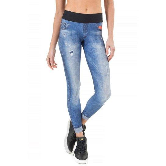 Calça Legging Live Jeans Original Basic - Marinho