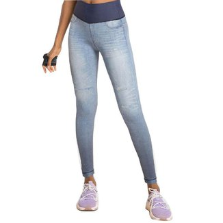 Calca Legging Live Rever Denim Moviment