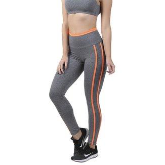 Calça Legging Mescla Com Neon Ksl Fitness 40028