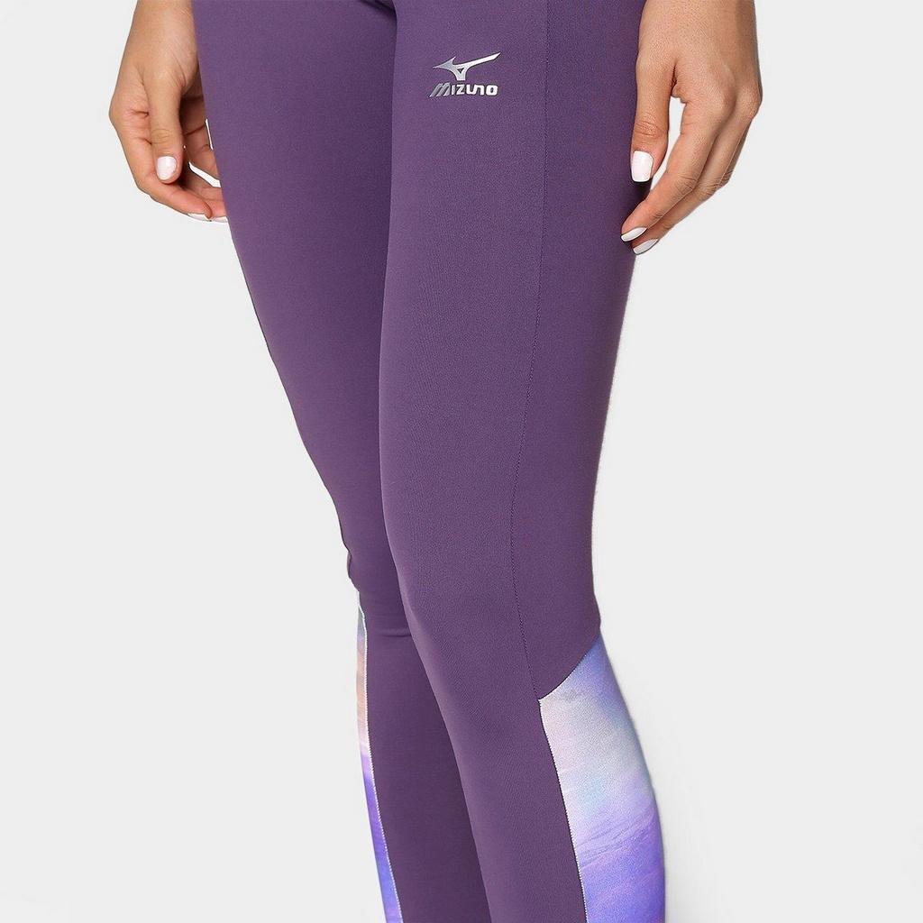 Mizuno Roxo Mizuno Colorfull Print Calça Colorfull Legging Legging Calça Roxo Print xEqt4nwgP0