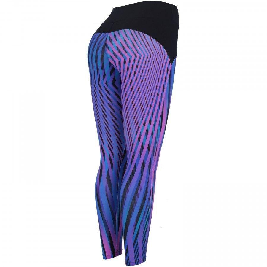 Fit Calça Femme Mizuno e Roxo Print Legging Calça Legging Azul SB1HW6c1r