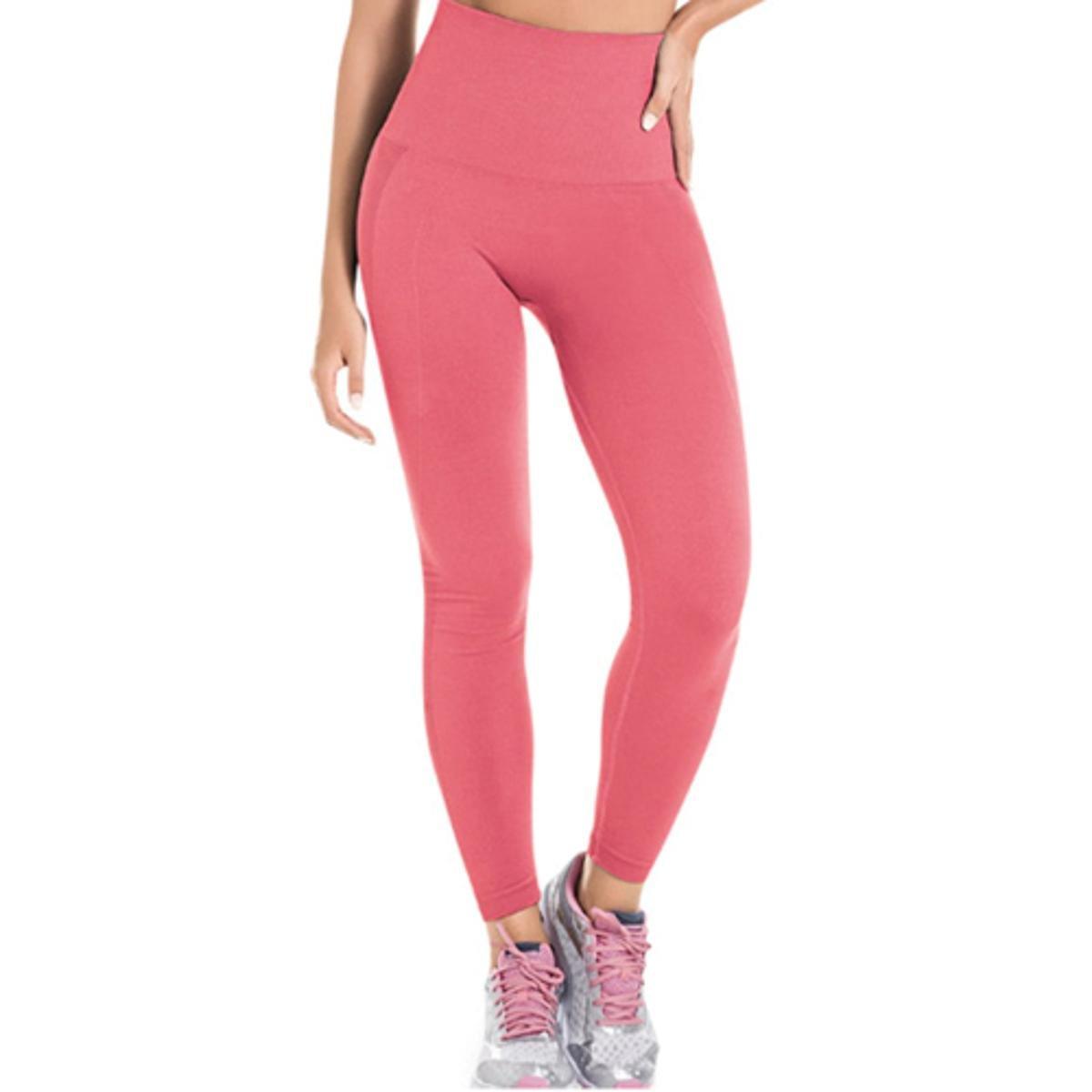 Modeladora Legging Sem Costura Calça Calça Rosa Legging pOxSnwqW6f