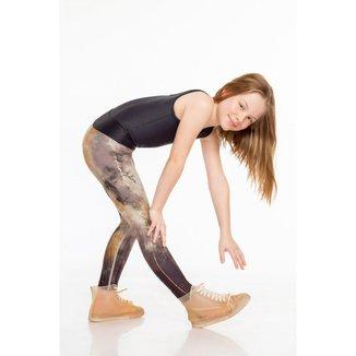 Calça Legging Newfound Kids - Marrom - 14 - LIVE!