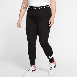 Calça Legging Nike Sportswear Club Plus Size Cintura Alta Feminina