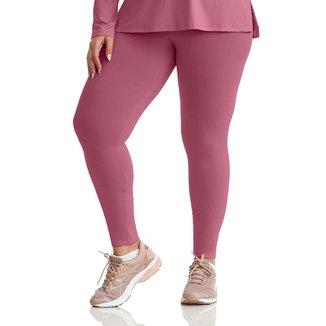 Calça Legging Plus Size Curvy Protect Rosa M+ CAJUBRASIL feminina
