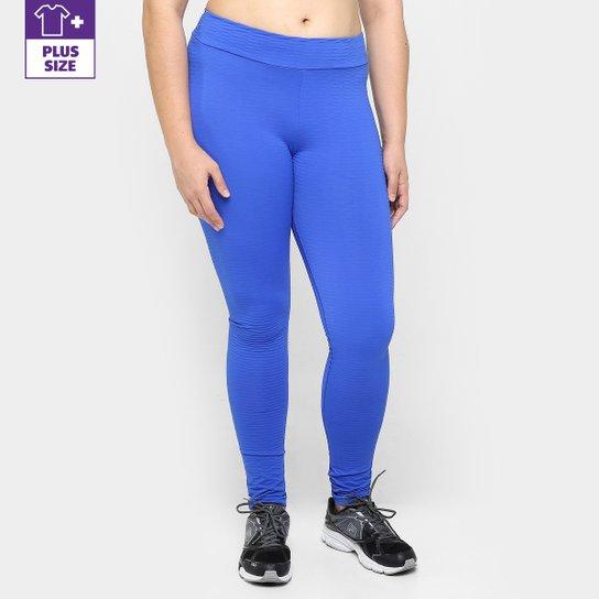 Calça Legging Plus Size Fila NS Feminina - Azul Royal
