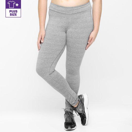 Calça Legging Plus Size Fila NS Feminina - Cinza