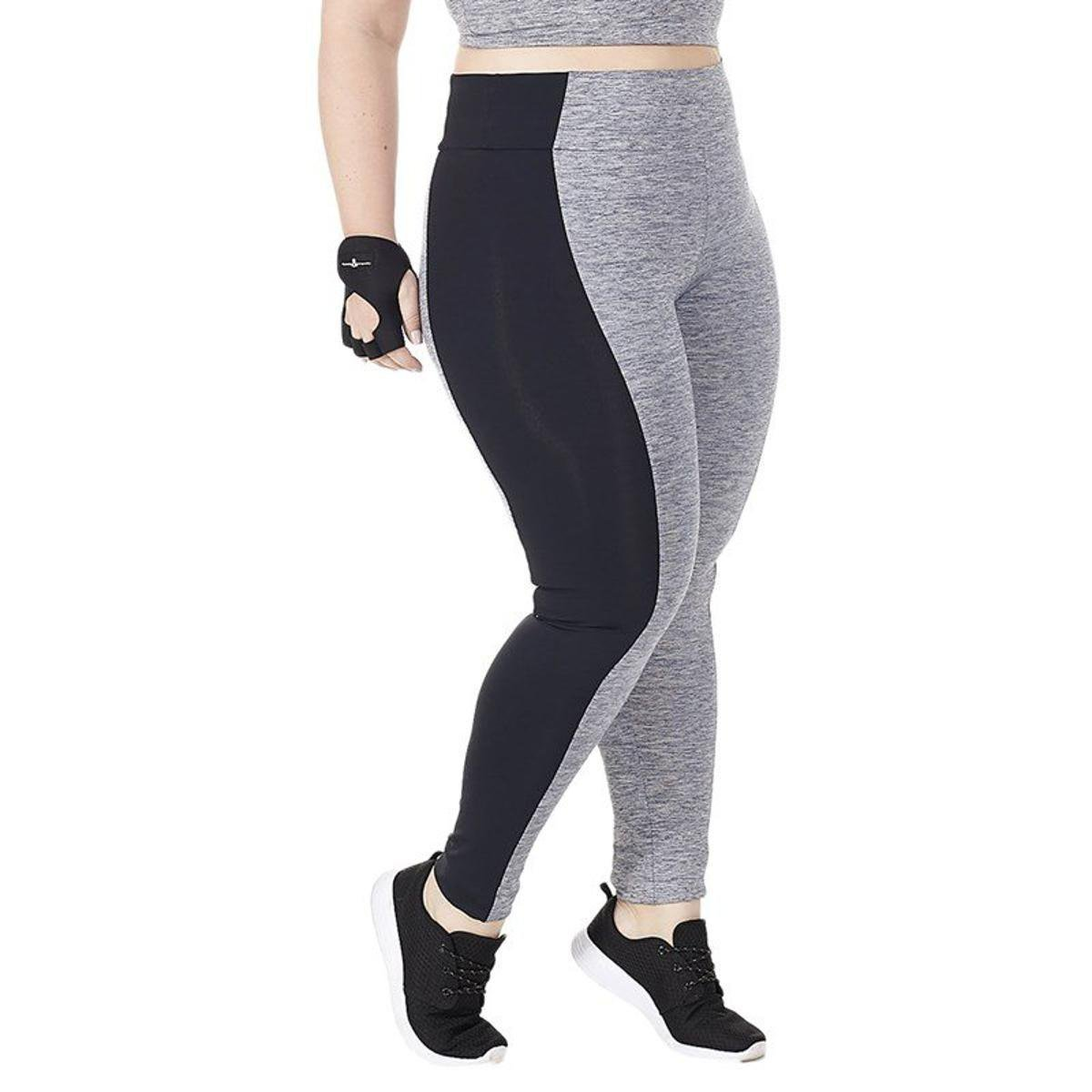 E Size Moviment Calça Cinza Legend Legging Calça Legging Plus SRw4Y
