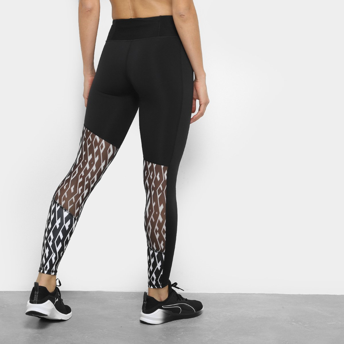 On Legging Preto Calça 8 Always Branco Feminina Graphic Puma e 7 ZBppqnta
