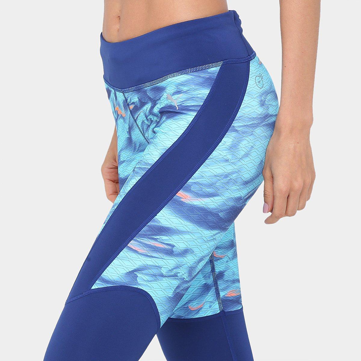 Azul Feminina Calça Calça e Graphic Puma Legging claro Legging Azul vrqYwqX4