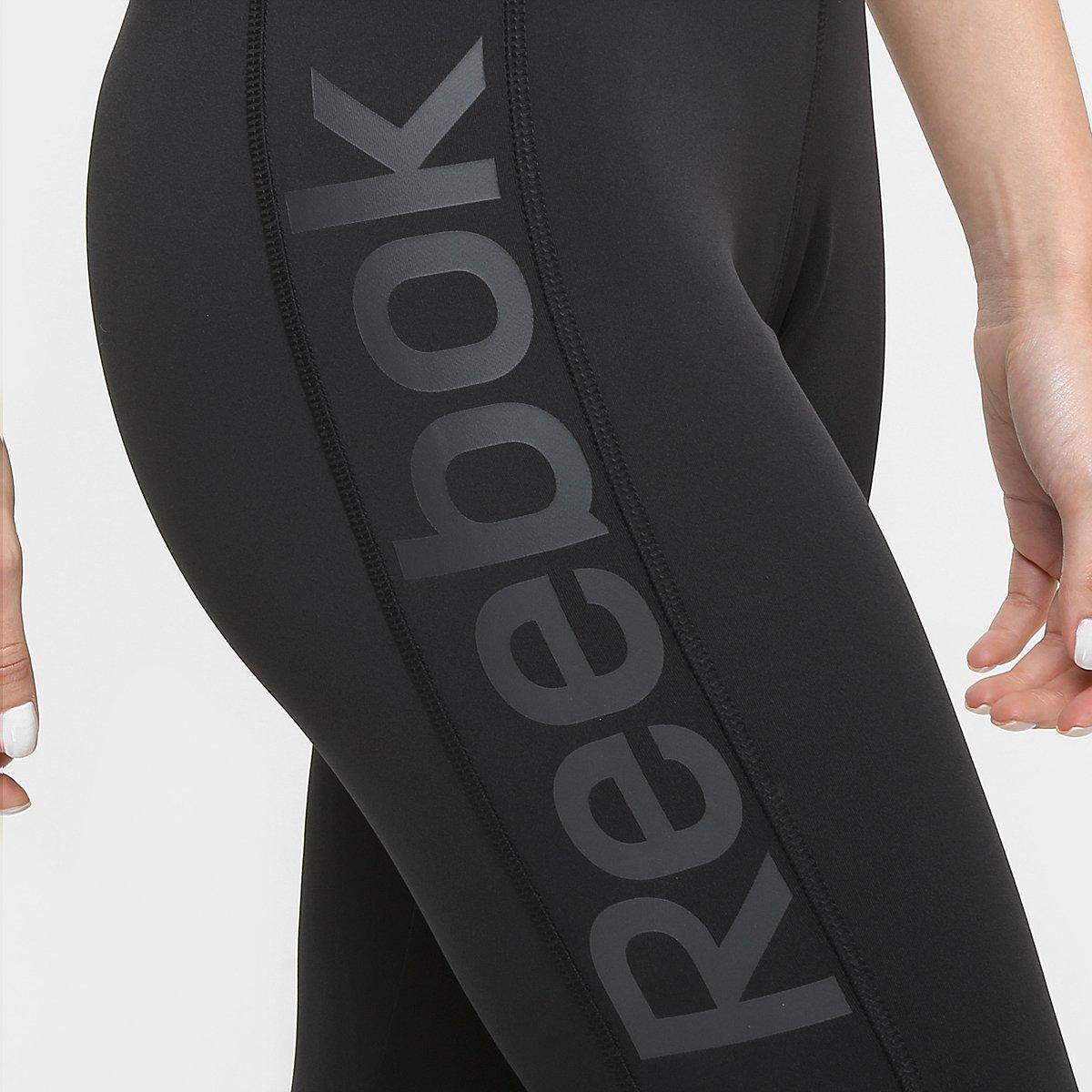 Calça Workout Reebok Calça Legging Preto Feminina Legging nnarW7