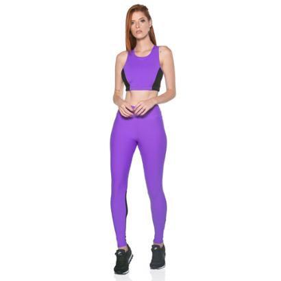 Calça Legging Sense Move com Tela Dry UV50+ Feminina - Feminino