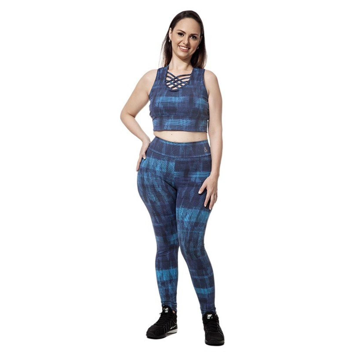 amp; Supplex Plus Legging e Marinho Movimento Calça Cia Azul IFHqc
