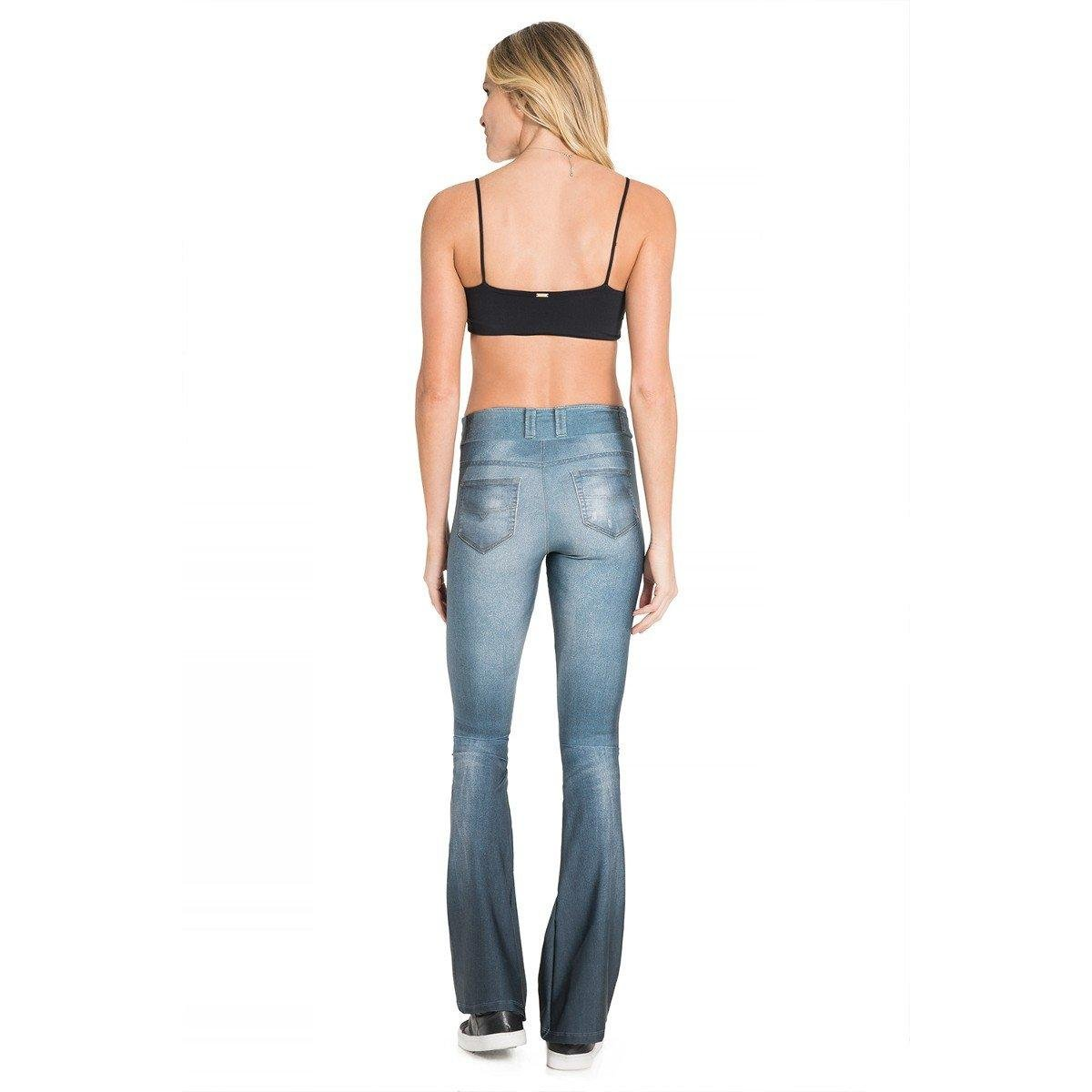 Calça Casual Calça Jeans Denim Live Live Jeans Flare XRq4qn8