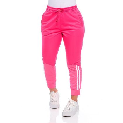 Calça Malha Com Recortes Pink Emporio Alex