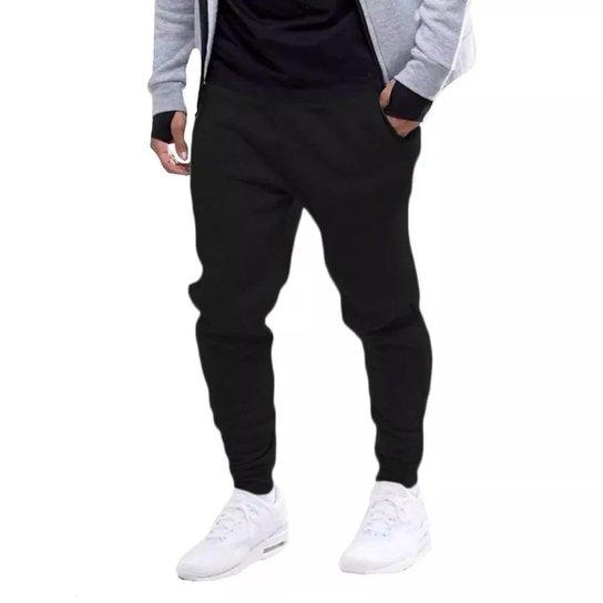 Calça Masculina de Moletom Jogger - Preto