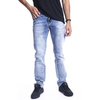 Calça Masculina Jeans Claro Base 38