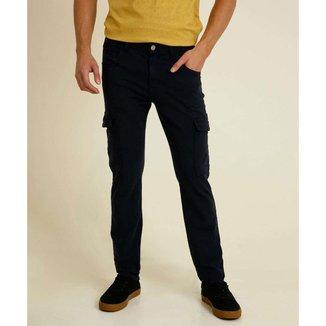 Calça Masculina Sarja Slim Cargo Zune Jeans - 10048223881