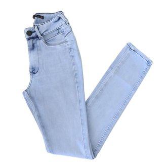 Calça Miller Jeans Com Bolso Vazado Estilosa Modela O Bumbum