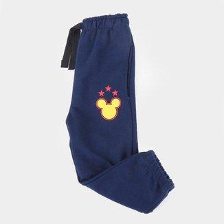 Calça Moletom Infantil Disney Mickey Masculina