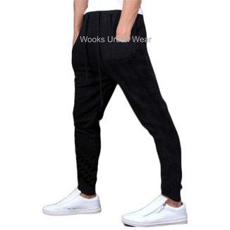Calça Moletom Masculina Skinny Slim Sport Luxo M5-PRETO-PP