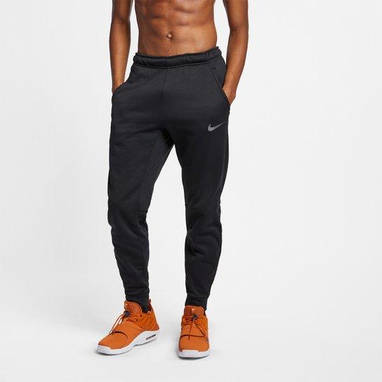 Calça Moletom Nike Therma Taper Masculina - Preto