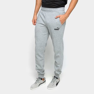 Calça Moletom Puma Essentials Logo Fleece Cl Masculina