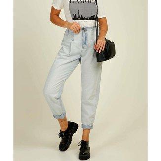 Calça Mom Jeans Feminina Cintura Alta Marisa - 10046376138