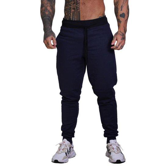 Calça MXD Conceito Moletom Slim Fit Masculina - Azul