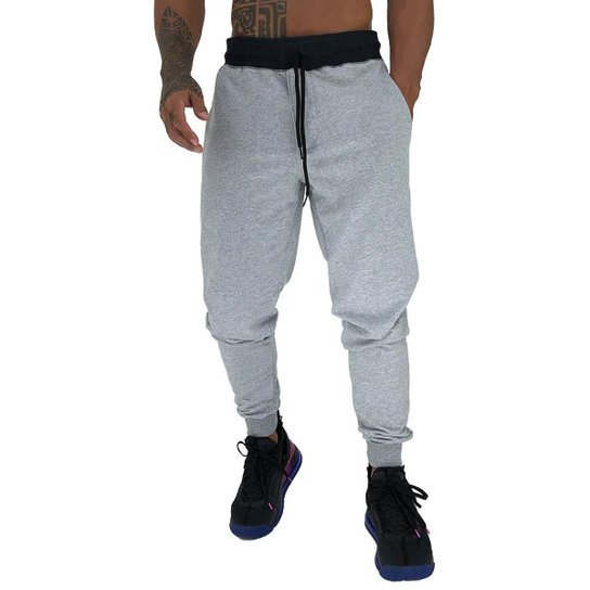 Calça MXD Conceito Moletom Slim Fit Masculina - Cinza