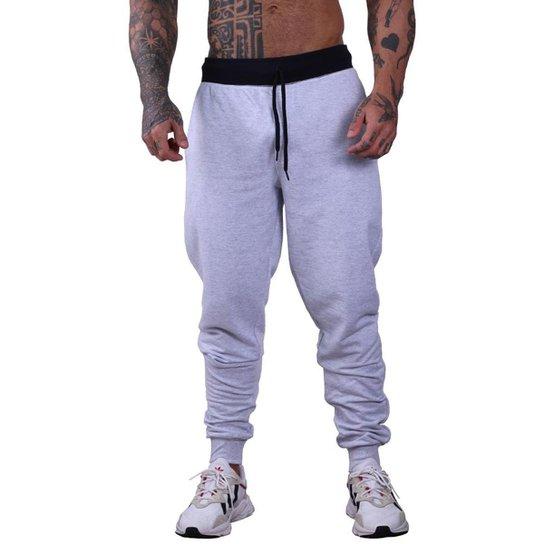 Calça MXD Conceito Moletom Slim Fit Masculina - Branco