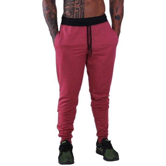 Calça MXD Conceito Moletom Slim Fit Masculina - Vermelho